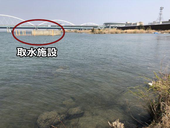 淀川の取水施設