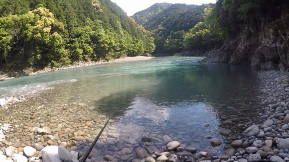 合川ダムのバックウォーター