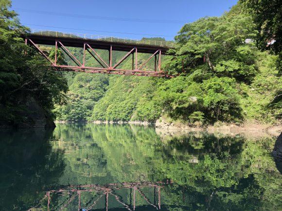 合川ダムの吊り橋