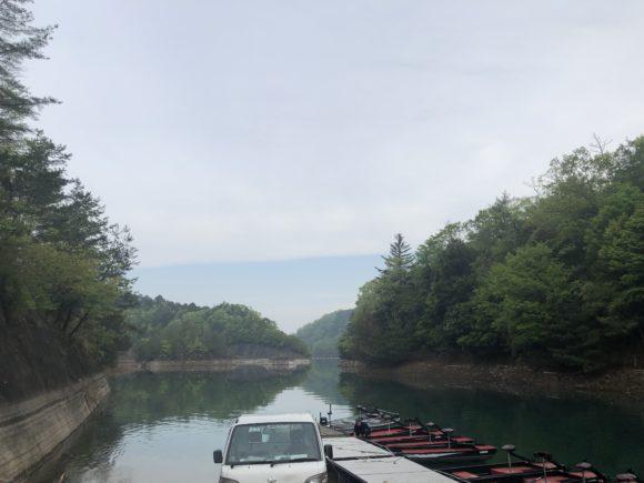 日吉ダムのレンタルボート