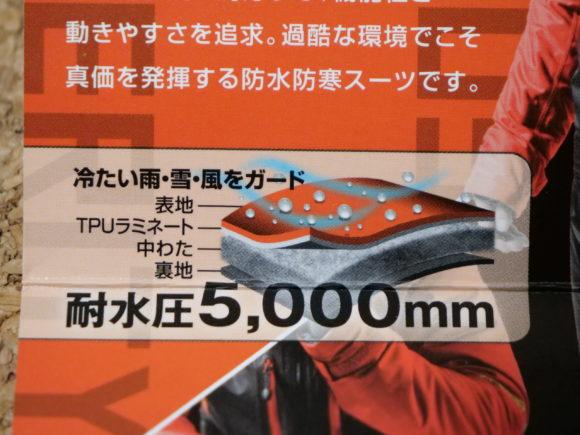 対水圧5000mg