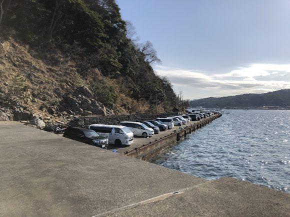 音海大波止の駐車場
