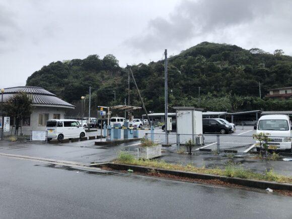 土生港(灘漁港)の有料駐車場