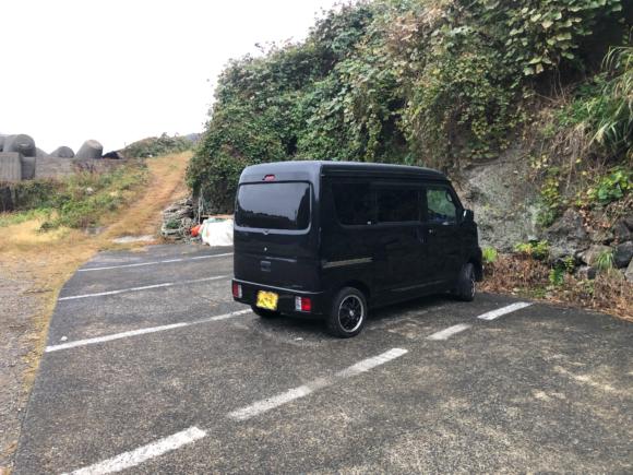 美代志丸渡船の駐車場