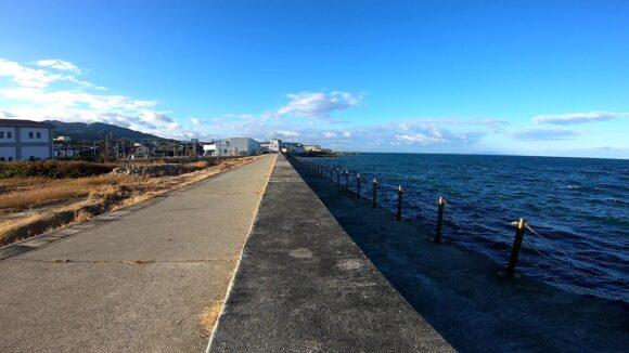富島漁港の柵