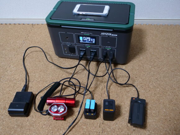 ポータブル電源で充電